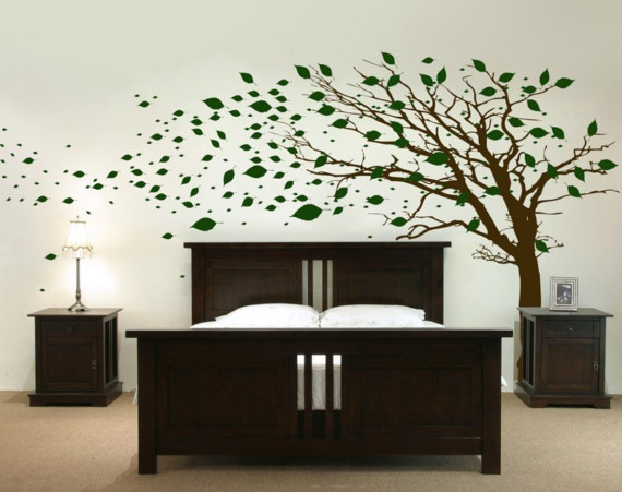 Big Tree Modern Bedroom Wall Decals